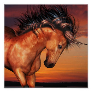 Chestnut Unicorn Poster