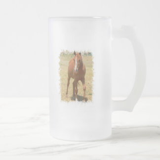 Chestnut Yearling Horse Frosted Beer Mug