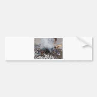 Chestnuts roasting on an open fire car bumper sticker