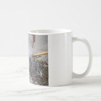 Chestnuts roasting on an open fire coffee mug
