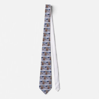 Chestnuts roasting on an open fire neck tie
