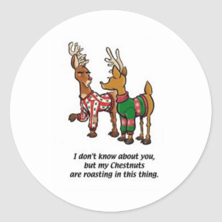 Chestnuts Roasting Stickers