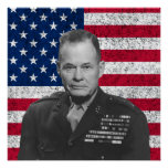 Chesty Puller and The American Flag Poster