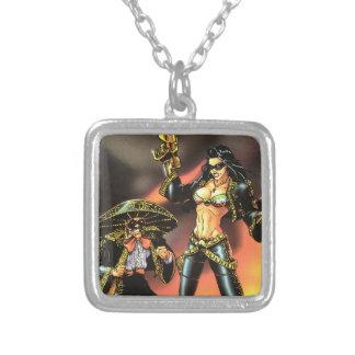 Chesty Sanchez #01 Cover Square Pendant Necklace