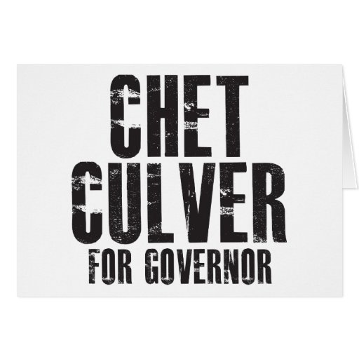 Chet Culver For Governor 2010 Card