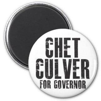 Chet Culver para el gobernador 2010 Imán Redondo 5 Cm
