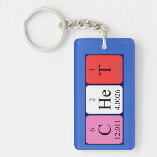 Chet periodic table name keyring keychains
