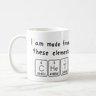 Chet periodic table name mug