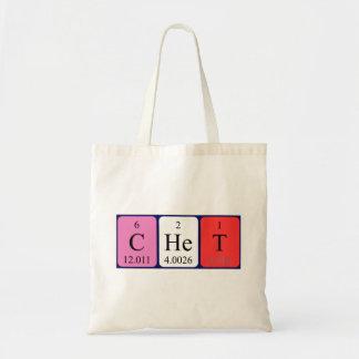 Chet periodic table name tote bag