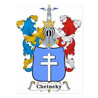 Chetneky Family Hungarian Coat of Arms Postcard