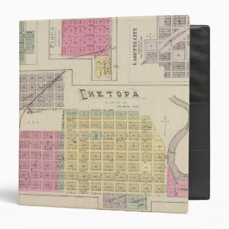 Chetopa, Dennis, Piqua, Labette City, Kansas 3 Ring Binder