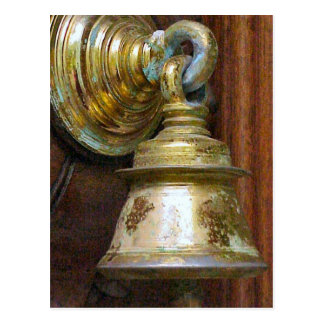 Chettiar Hindu Bell on temple door Postcard