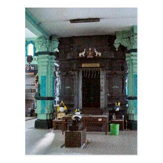 Chettiar Hindu Inside the Chettiar temple Postcard