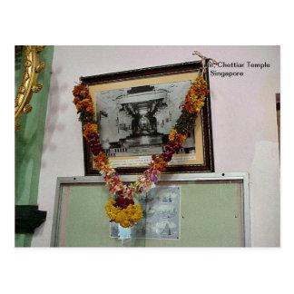 Chettiar Hindu Temple, Garlanded picture Postcard