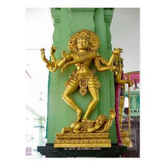 Chettiar Hindu  temple, Hindu god Postcard