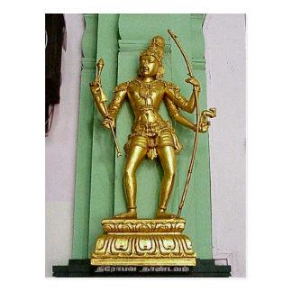 Chettiar Hindu Temple, Hindu statue Postcard