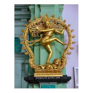 Chettiar Hindu temple  Hindu Statue Postcard