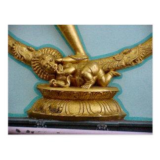 Chettiar Hindu Temple, Shiva statue base Post Card