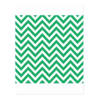 Chev verde y blanco de la primavera esmeralda del postal