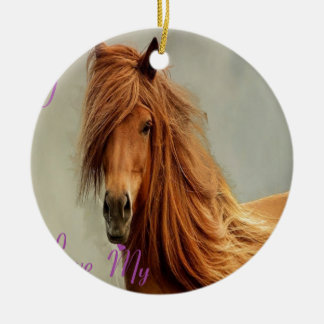 CHEVAL.png SUCKS Double-Sided Ceramic Round Christmas Ornament
