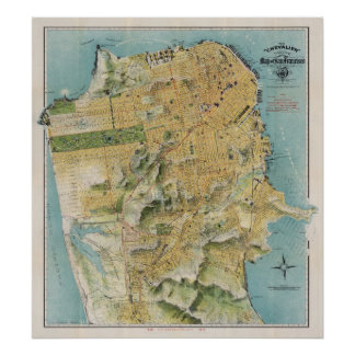 Chevalier's map of San Francisco (1912) Poster
