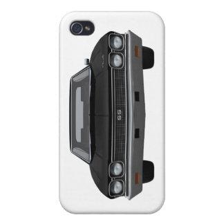 Chevelle 1968 SS: Acabado en negro iPhone 4 Carcasas