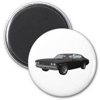 Chevelle 1968 SS Acabado en negro Imanes