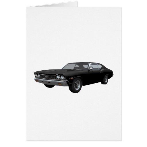 Chevelle 1968 SS: Acabado en negro Tarjeta De Felicitación