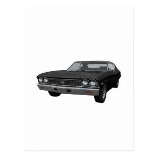 Chevelle 1968 SS: Acabado en negro Tarjetas Postales