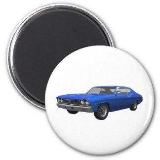 Chevelle 1968 SS Final azul Iman De Frigorífico