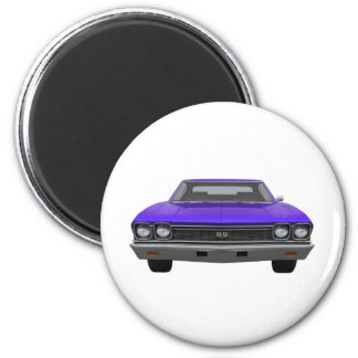 Chevelle 1968 SS: Final púrpura Imán Redondo 5 Cm
