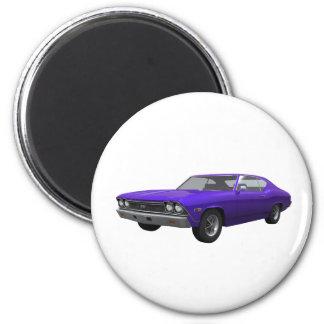 Chevelle 1968 SS Final púrpura Iman De Nevera