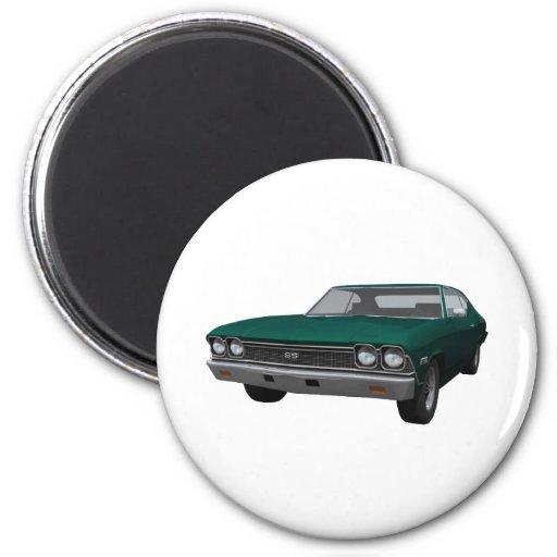 Chevelle 1968 SS: Final verde Imán De Nevera