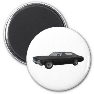 Chevelle 1969 SS Acabado en negro Imán Para Frigorífico