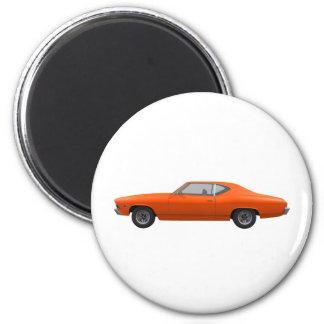 Chevelle 1969 SS Final anaranjado Imán De Nevera