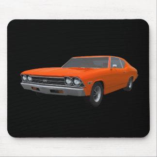 Chevelle 1969 SS: Final anaranjado: Mousepad Tapete De Ratón
