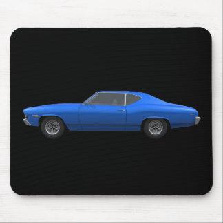 Chevelle 1969 SS: Final azul: Mousepad Alfombrillas De Ratón
