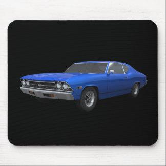 Chevelle 1969 SS: Final azul: Mousepad Tapetes De Ratón
