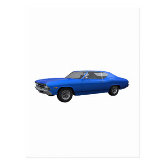 Chevelle 1969 SS: Final azul Postal