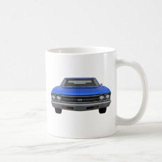 Chevelle 1969 SS: Final azul Tazas De Café