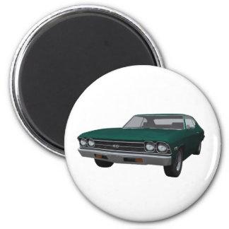Chevelle 1969 SS Final verde Imanes De Nevera