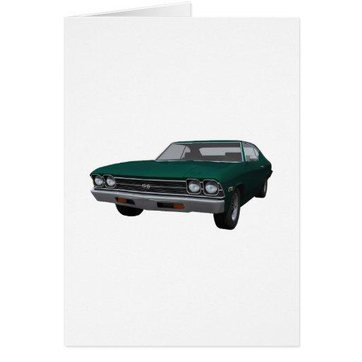 Chevelle 1969 SS: Final verde Tarjeta De Felicitación