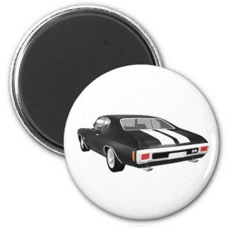 Chevelle 1970 SS: Acabado en negro: Imán Redondo 5 Cm