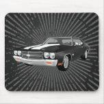 Chevelle 1970 SS: Acabado en negro: Mousepad Alfombrillas De Ratones