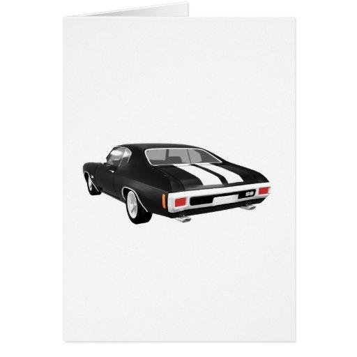Chevelle 1970 SS: Acabado en negro: Tarjeta
