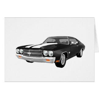 Chevelle 1970 SS: Acabado en negro: Tarjeta De Felicitación