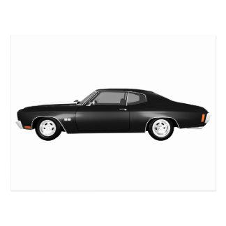 Chevelle 1970 SS: Acabado en negro: Postales