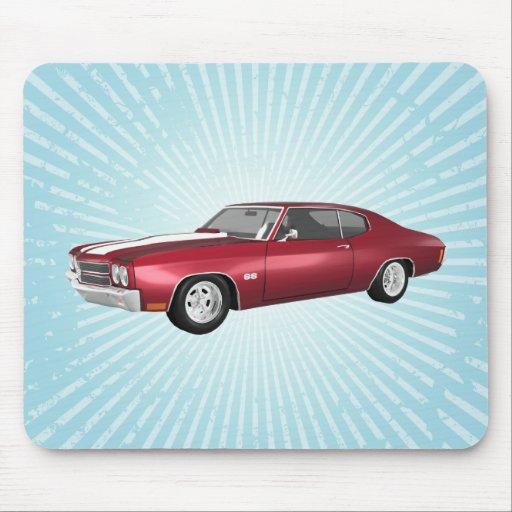 Chevelle 1970 SS: El caramelo Apple acaba: Mousepa Tapetes De Ratón