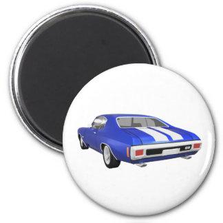 Chevelle 1970 SS Final azul Imán Para Frigorífico