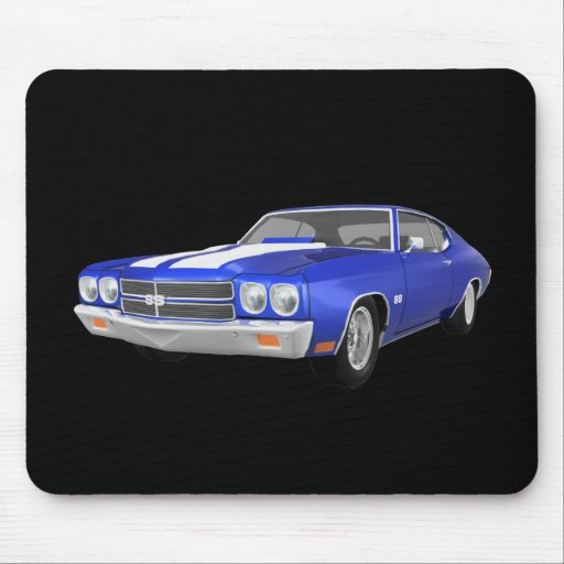 Chevelle 1970 SS: Final azul: Mouse Pad